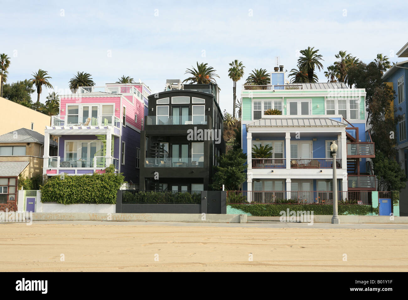 strandh user an der strandpromenade von santa monica los angeles kalifornien usa stockfoto bild. Black Bedroom Furniture Sets. Home Design Ideas