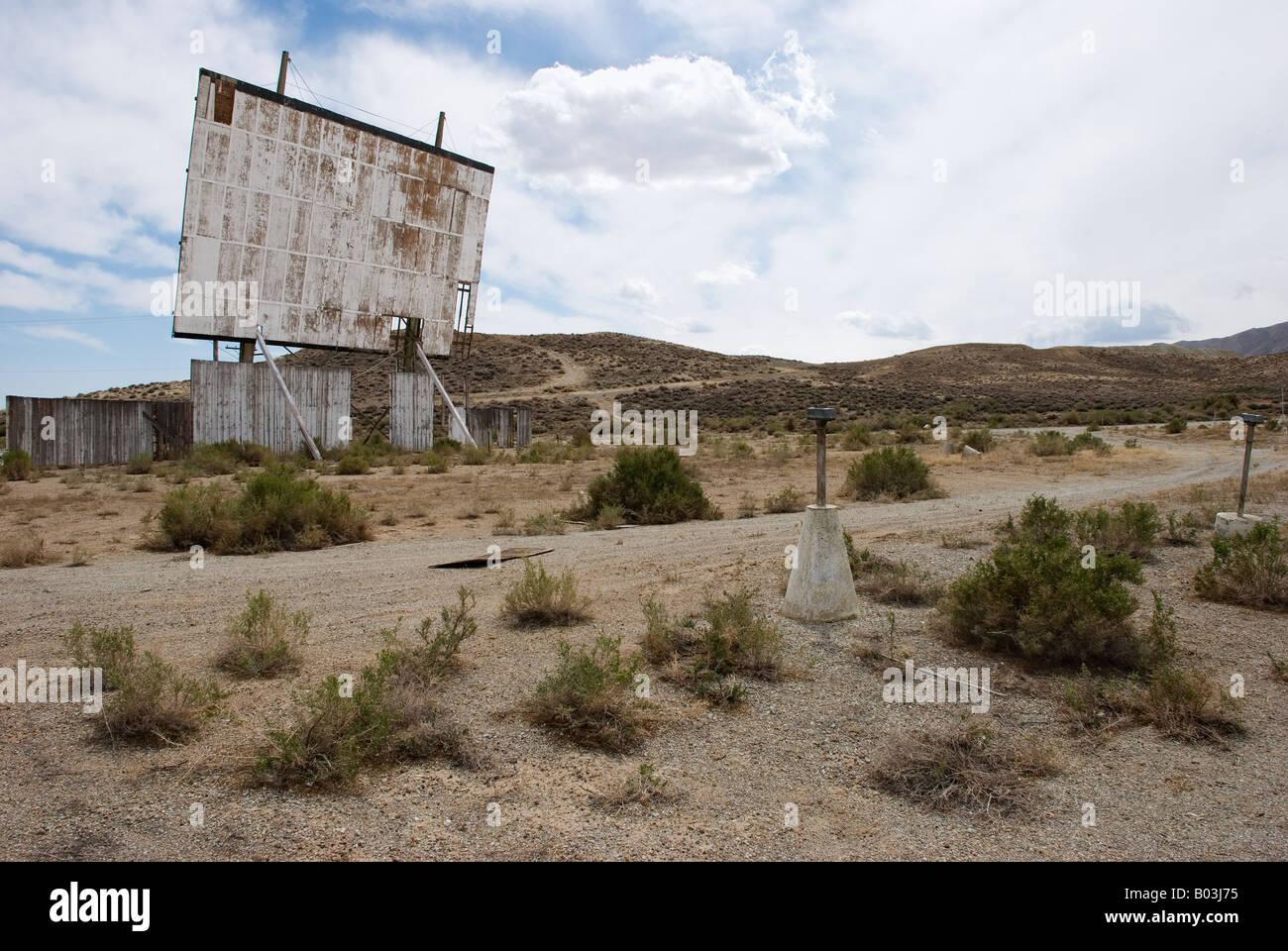 Verfallene Laufwerk im Kino im Westen der USA Stockbild