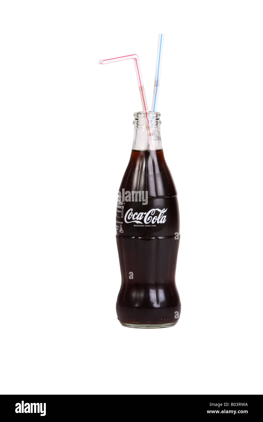 coca cola flasche mit einem strohhalm stockfoto bild 17294966 alamy. Black Bedroom Furniture Sets. Home Design Ideas