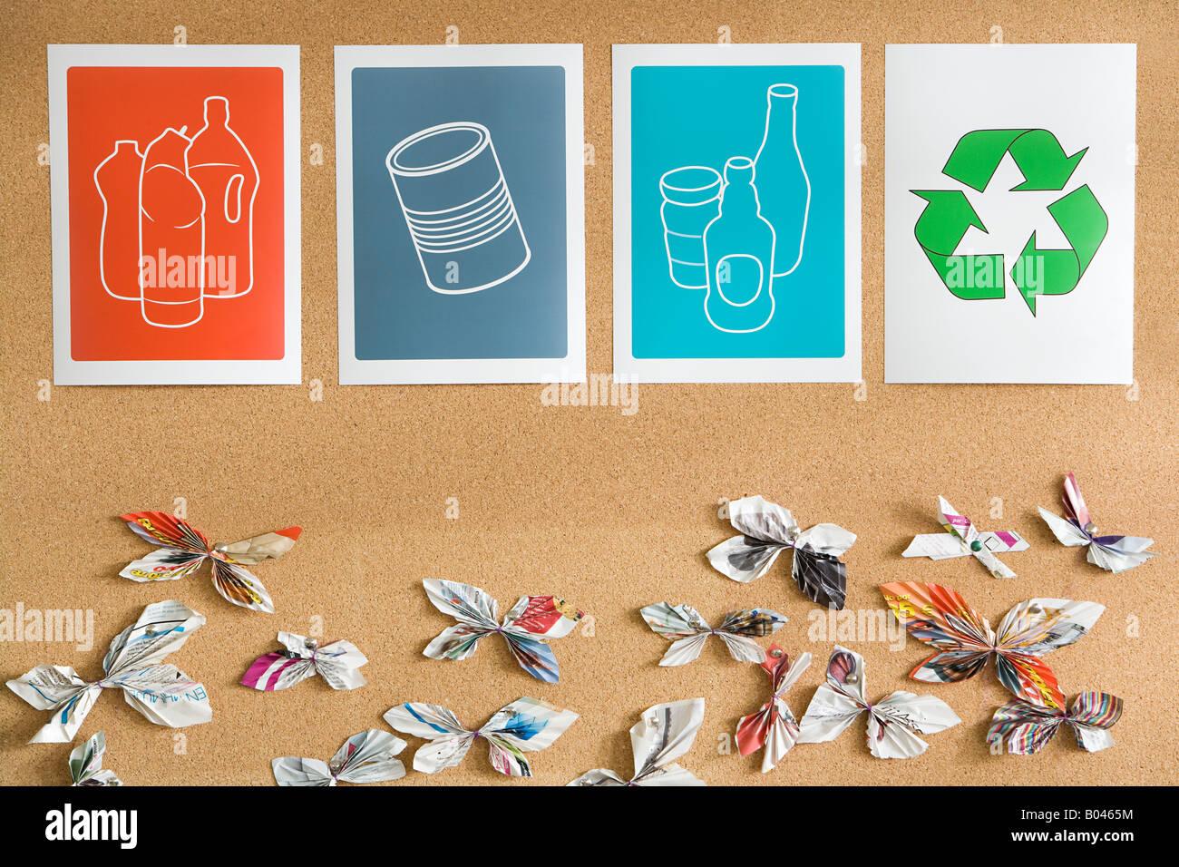 Recycling-Illustrationen Stockbild