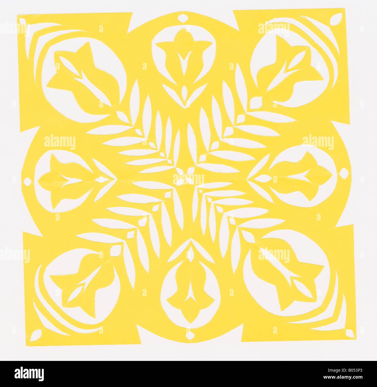 Contemporary Paper Cutting Floral Design Stockfotos & Contemporary ...