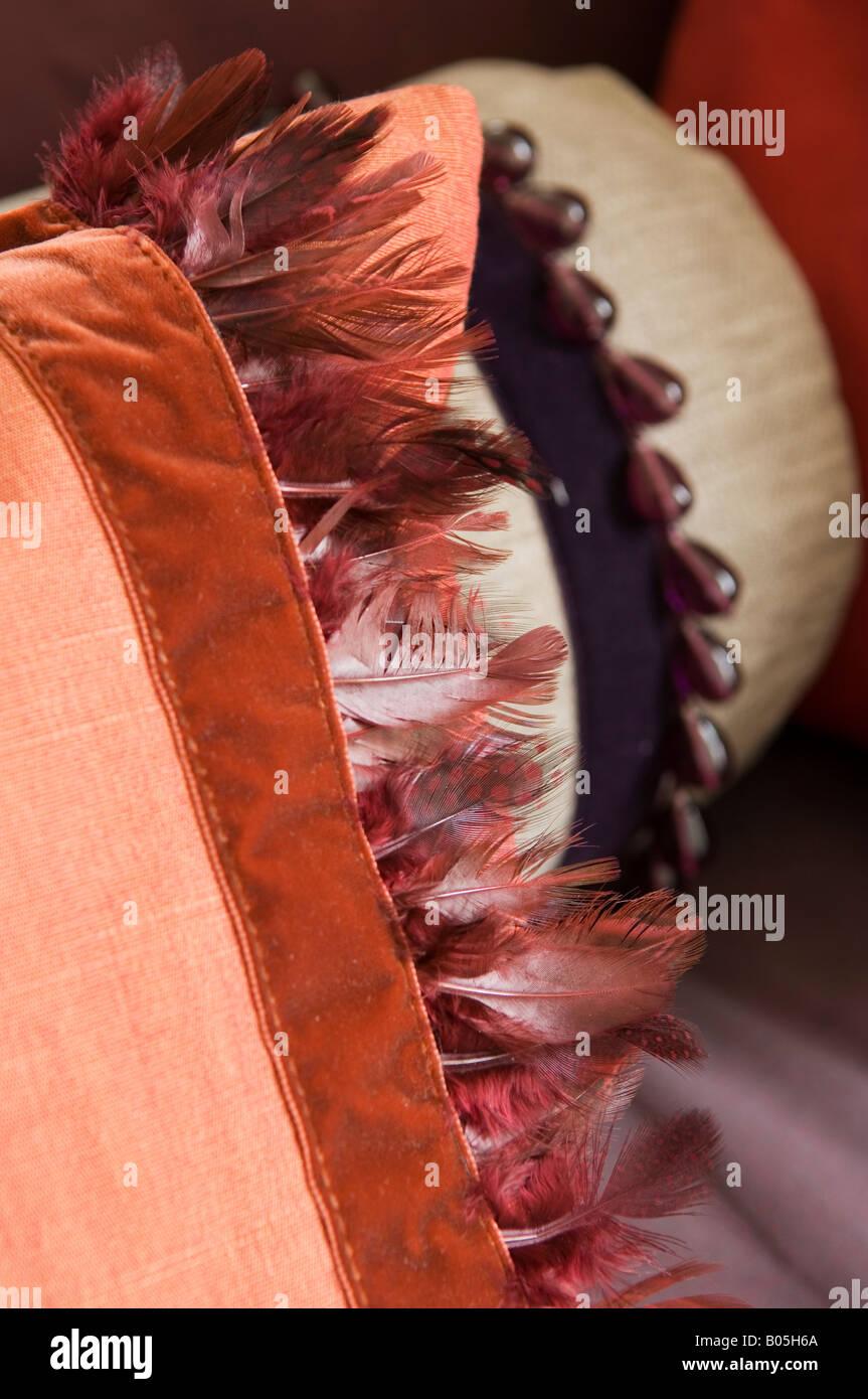 Stoff und Textilien von Jim Thompson entworfen Stockbild