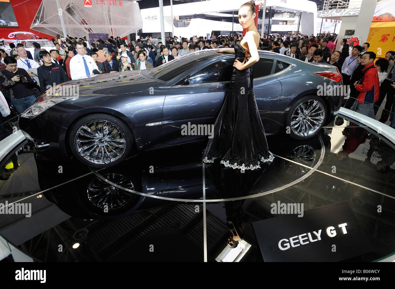 Geely GT auf der Auto China 2008 in Peking. 24. April 2008 Stockbild