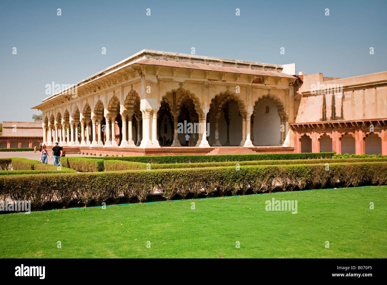 Red fort agra diwan khas stockfotos red fort agra diwan for Diwan i khas agra fort