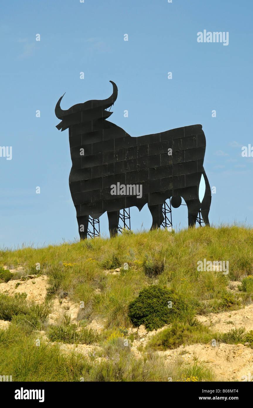 Jerez Osborne Stier, El Campello, Alicante, Costa Blanca, Spanien Stockbild