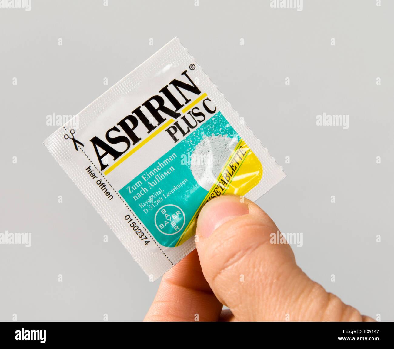 Aspirin Plus C - eine einzige Tablette, Paket Stockfoto