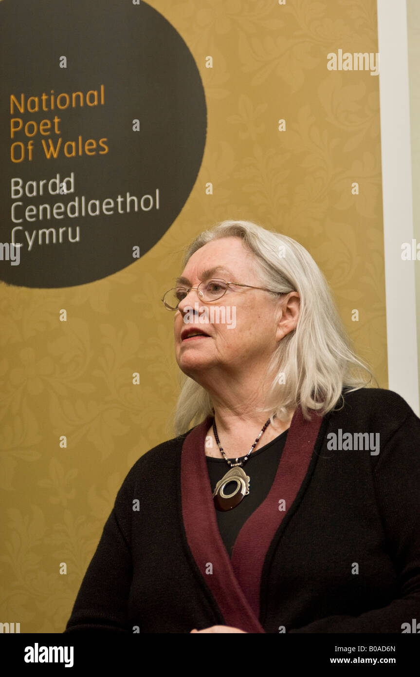GILLIAN CLARKE der dritten nationalen Dichter von Wales Stockbild