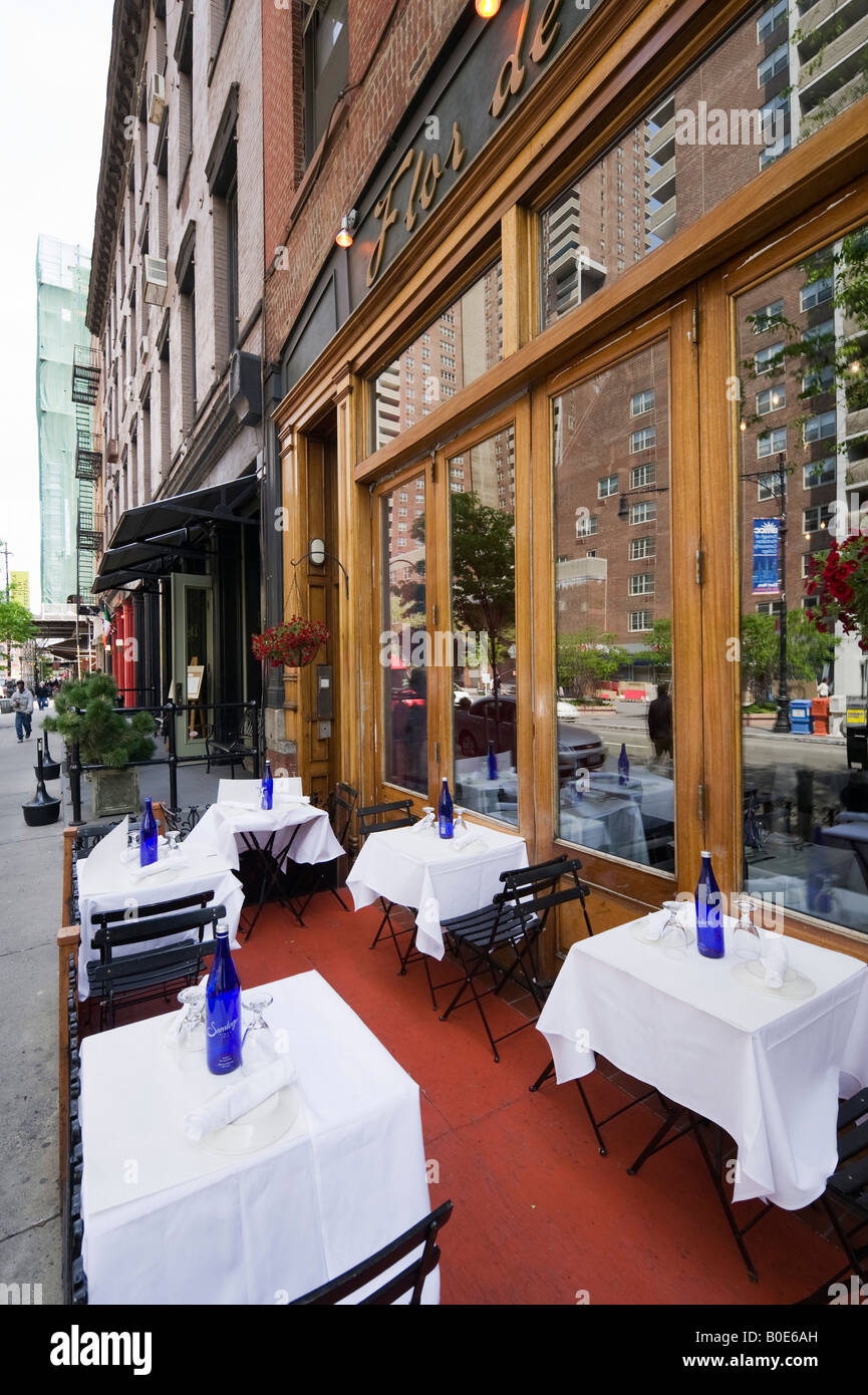 Restaurant am Greenwich Street, Tribeca, Manhattan, New York City Stockbild