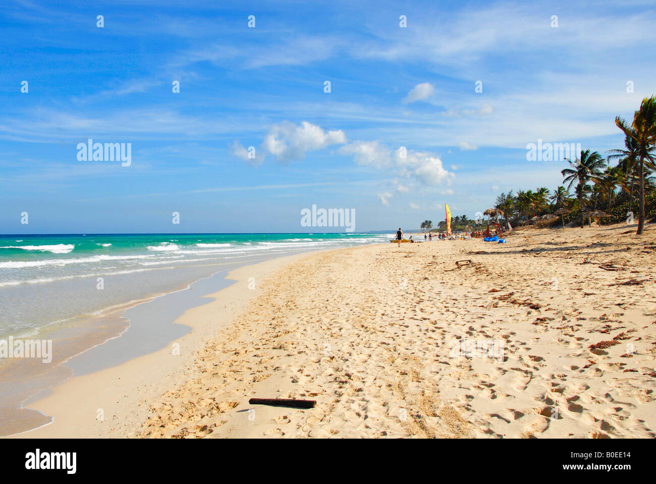 Der Strand von Playa del Este, Havanna, Kuba Stockbild