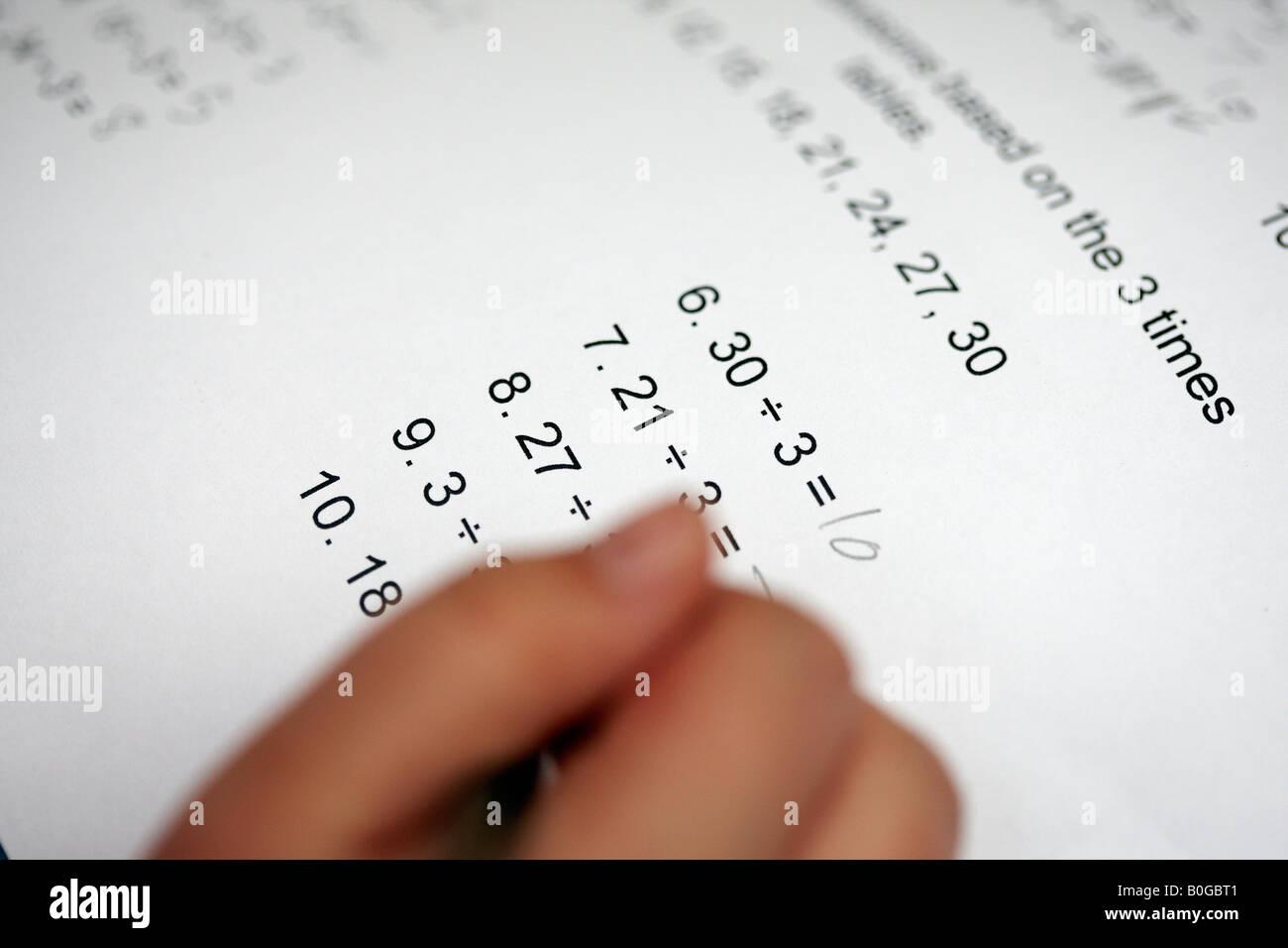 Math Tables Stockfotos & Math Tables Bilder - Alamy
