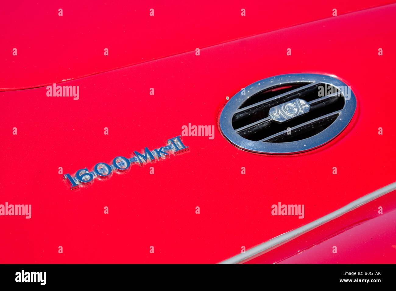 MGA 1600 Mk 3 III Logo - MG Car Company Limited wurde eine ehemalige britische Sportwagen-Hersteller Stockbild