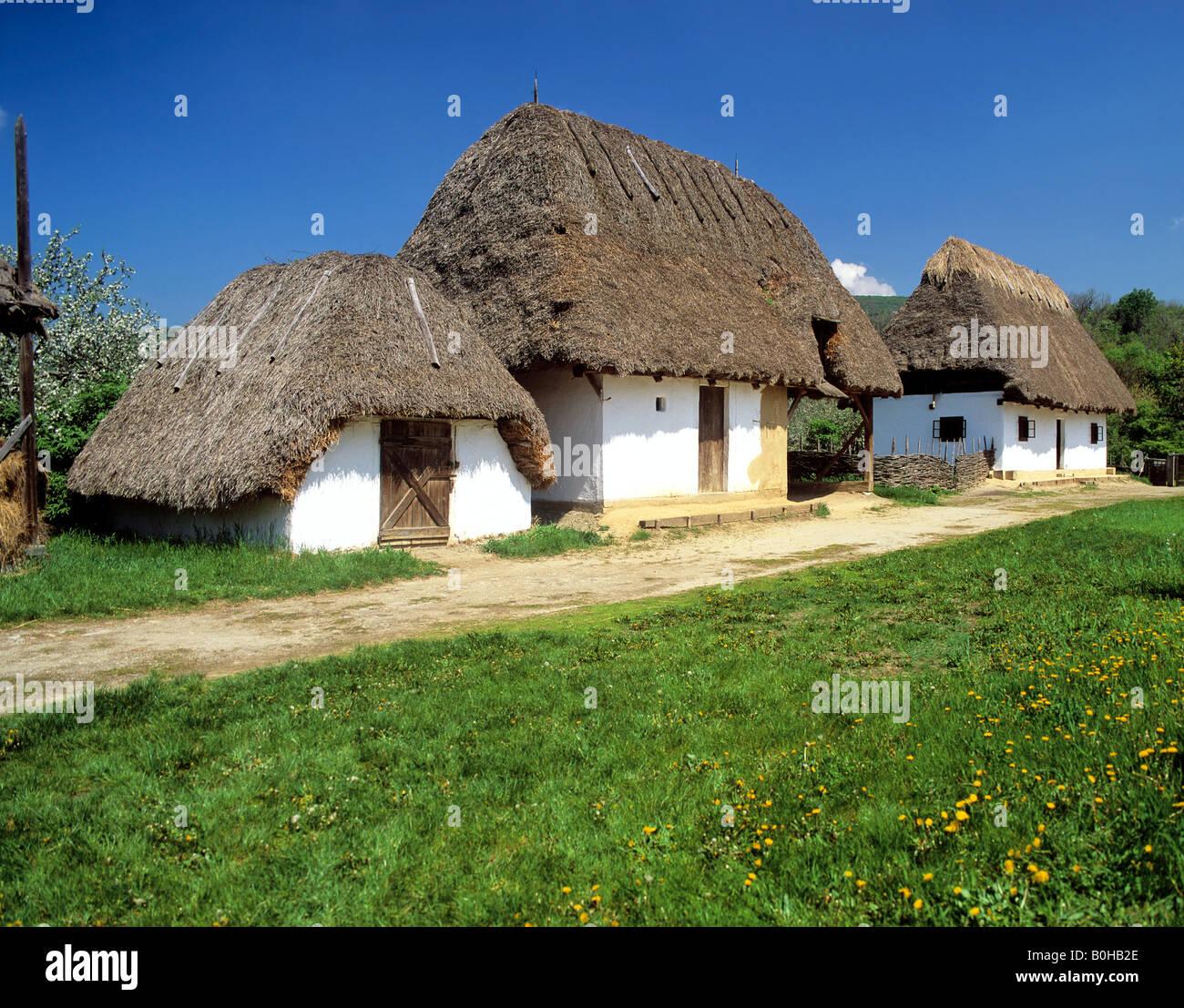 Csarda, Bauernhaus in der Puszta, Ungarn Stockbild
