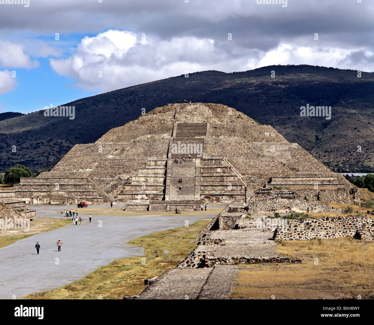 Pyramide des Mondes in Teotihuacan, aztekische Zivilisation in der Nähe von Mexiko-Stadt, Mexiko, Mittelamerika Stockbild