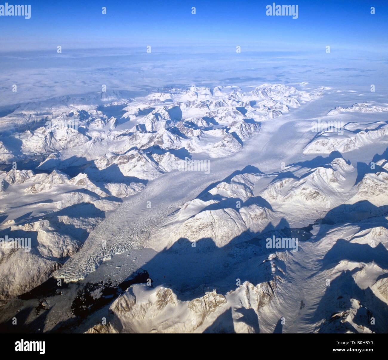 gletscher in s dgr nland blick aus einer h he von 10 000 metern luftaufnahme gr nland. Black Bedroom Furniture Sets. Home Design Ideas