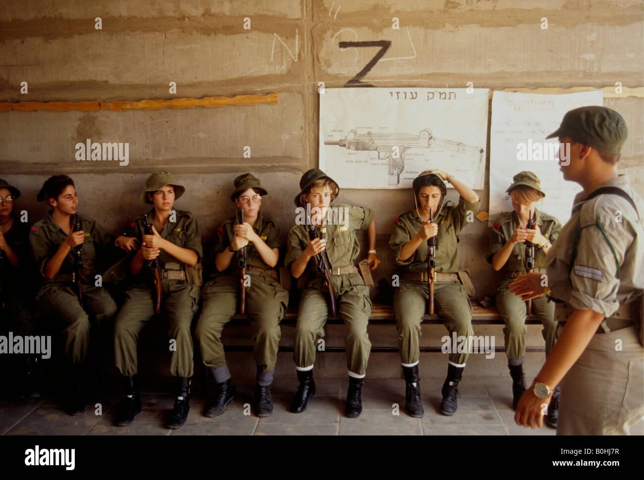Frauen Soldaten In Der Grundausbildung Israel Stockfoto Bild