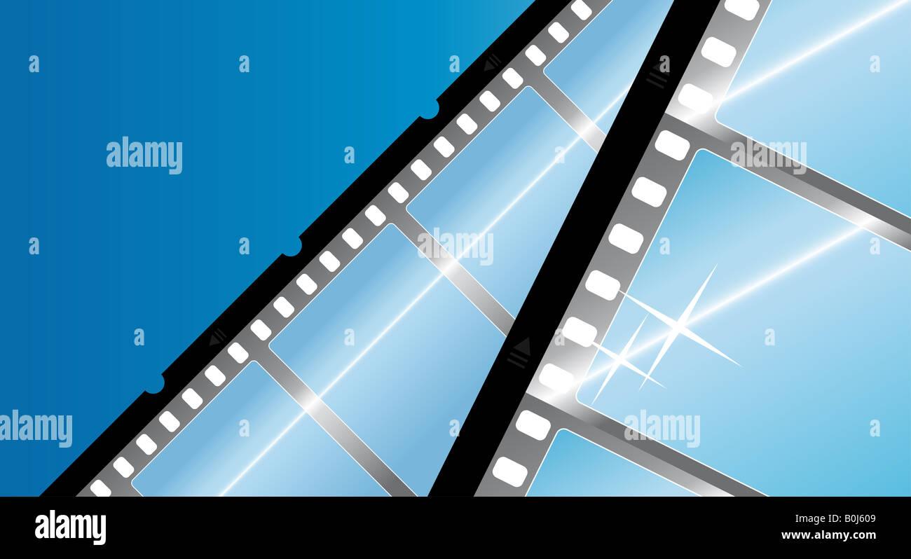 Vektor-Illustration von einer Kamera Film Filmstreifen moderne ...