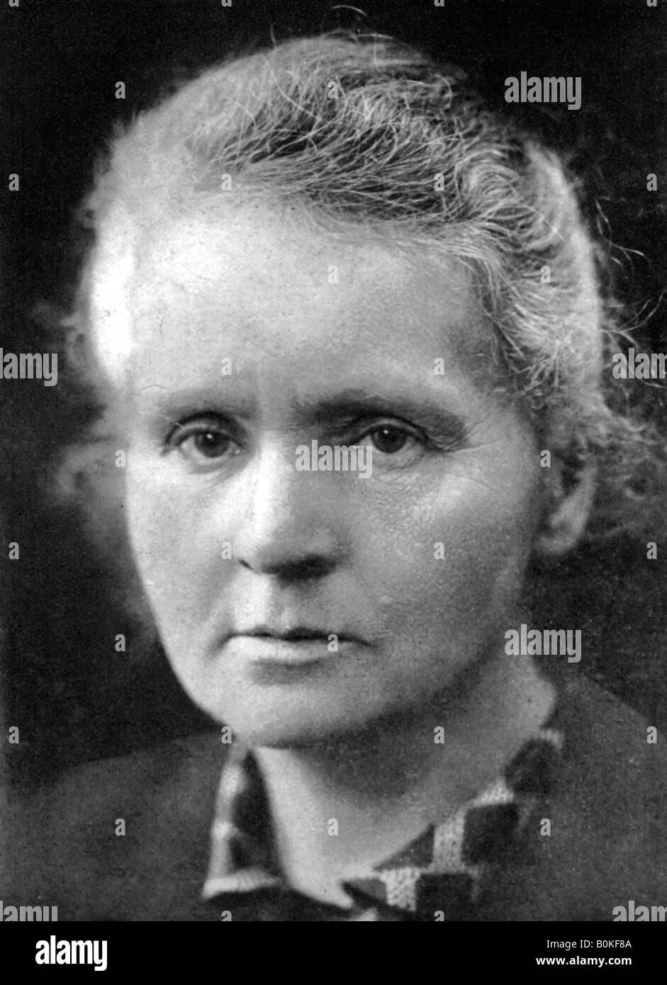 Marie Curie (1867-1934), polnisch-französische Physiker, 1926. Artist: Unbekannt Stockfoto