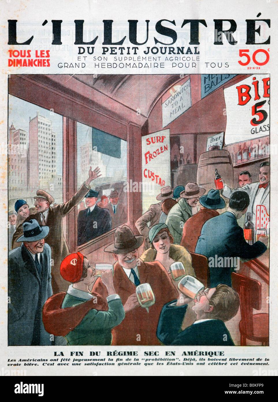 Dem Ende der Prohibition in den USA.  Künstler: unbekannt Stockbild
