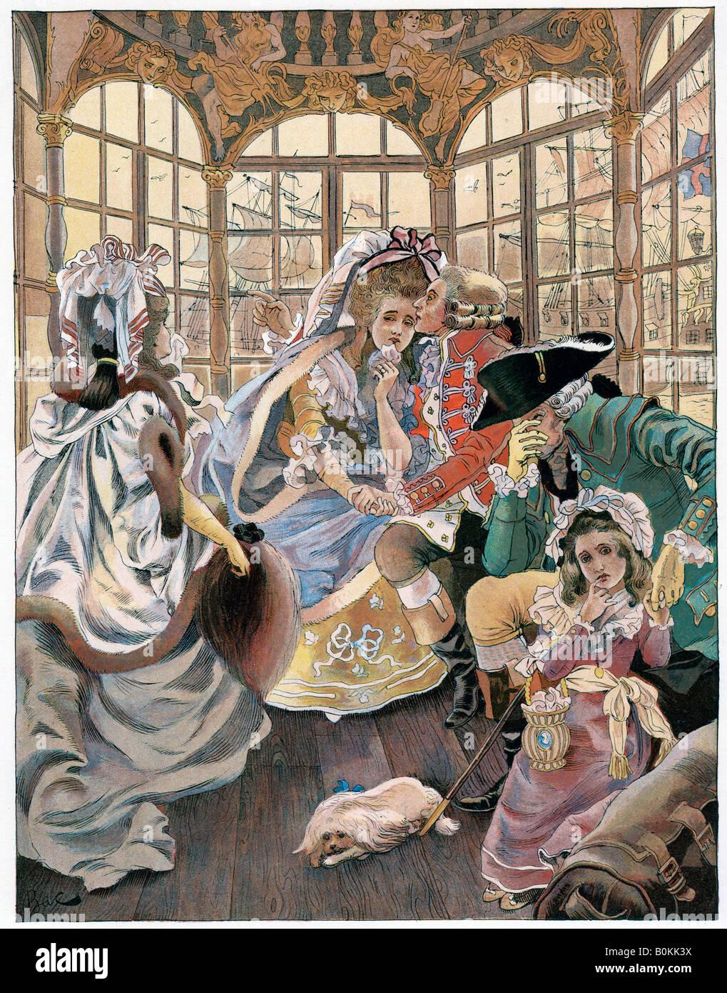 """""""Die Emigration während der Revolution, 18. Jahrhundert', c 1880-1950. Artist: Ferdinand Sigismund Stockbild"""