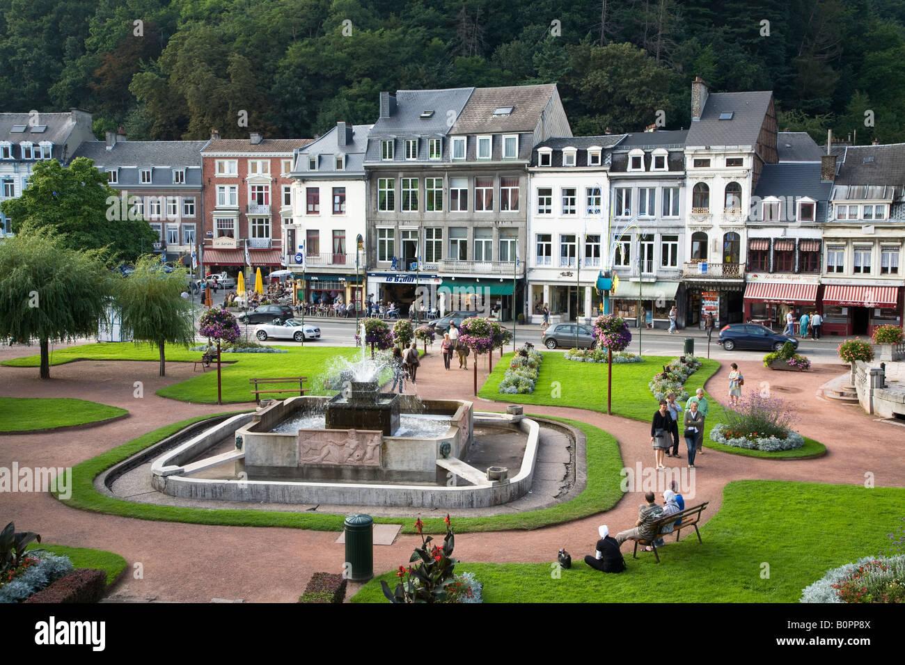 Zentrale Garten Und Geschaften In Der Stadt Spa Belgien