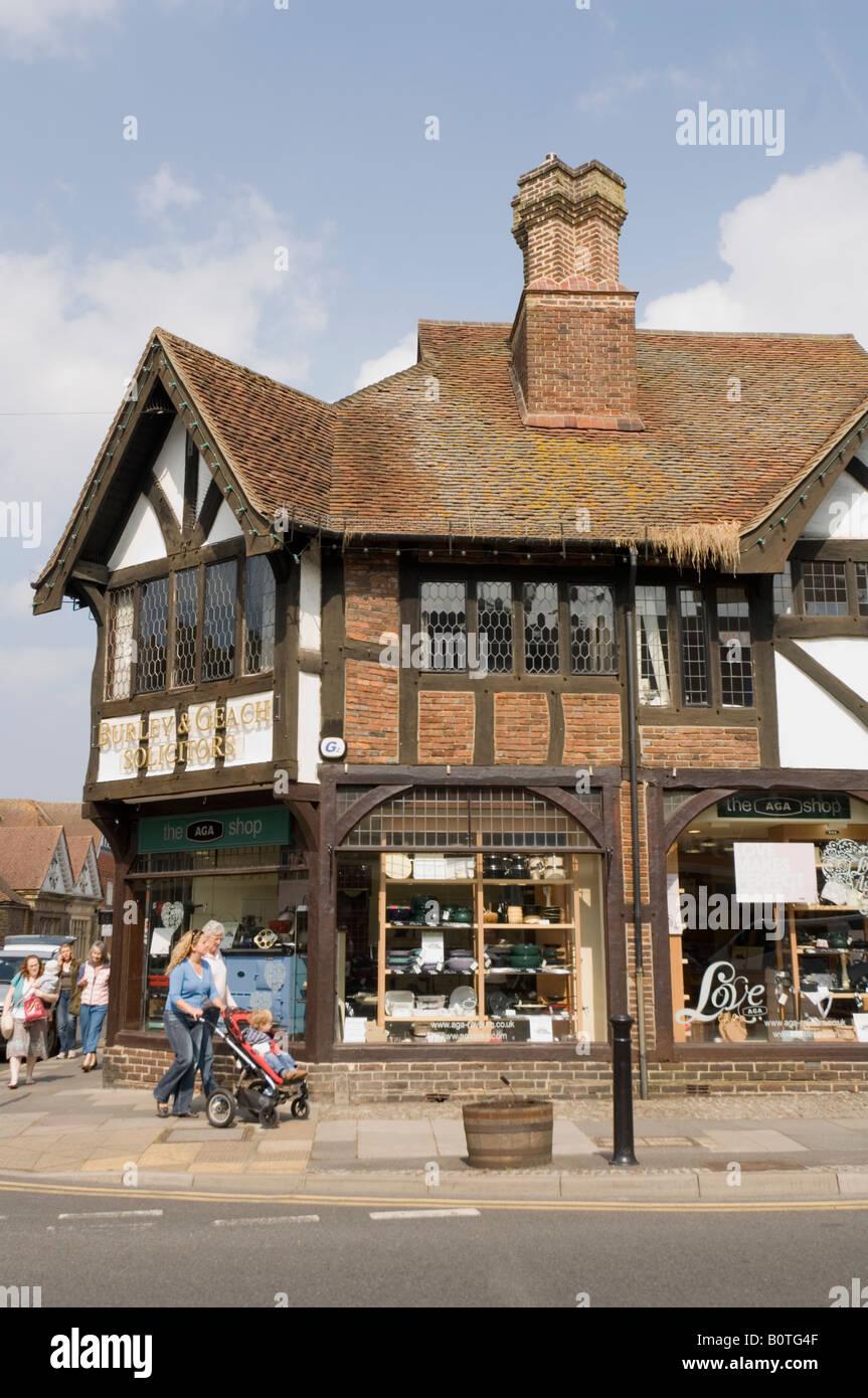 Shop Haslemere High Street Surrey UK Stockbild