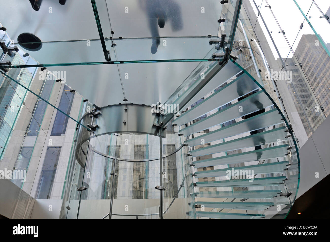 Glass Cube Eingang in die Apple Retail Store, Fifth Avenue ...