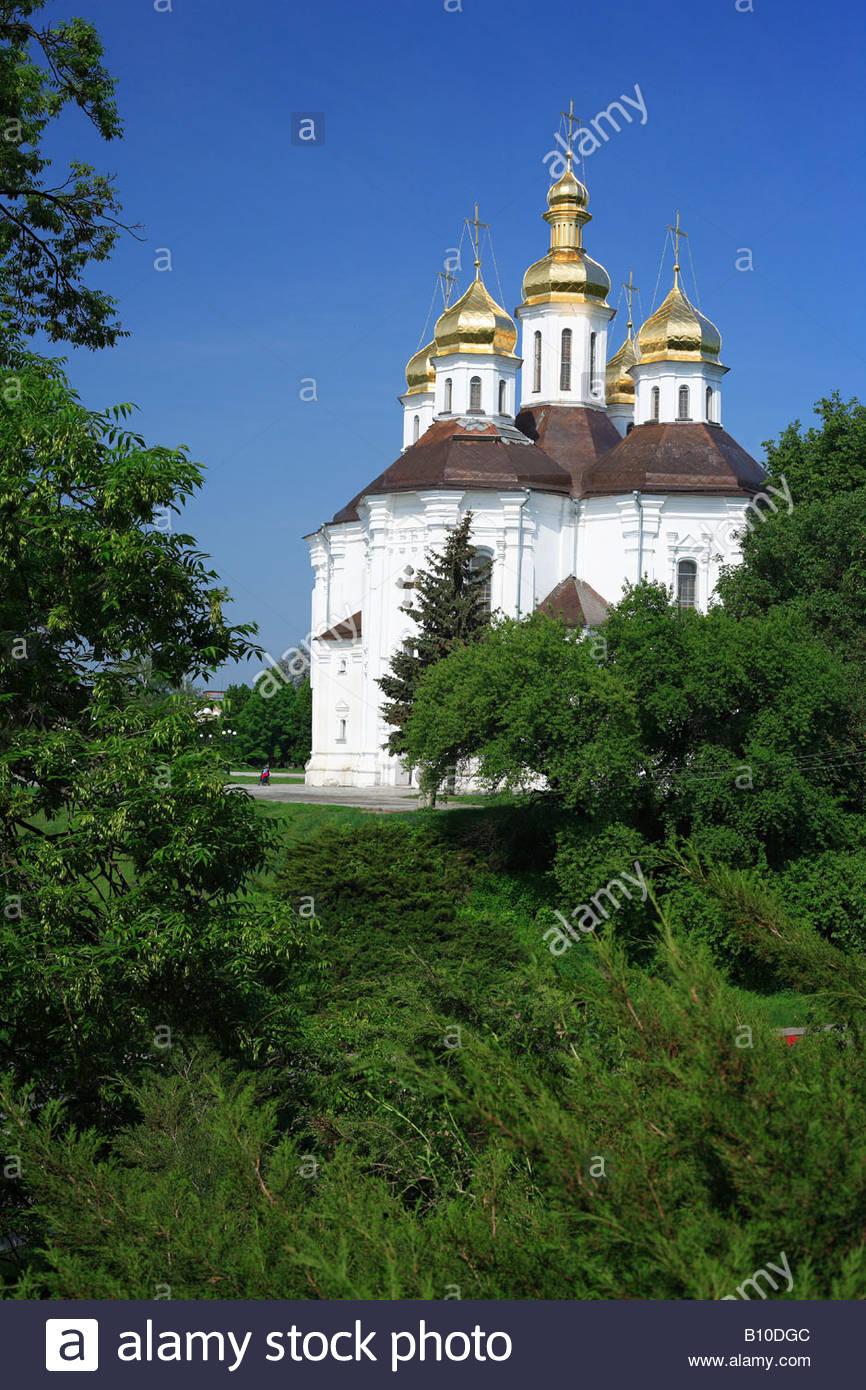 St. Katharinen-Kirche (18. Jahrhundert), Chernigov, Ukraine Stockbild
