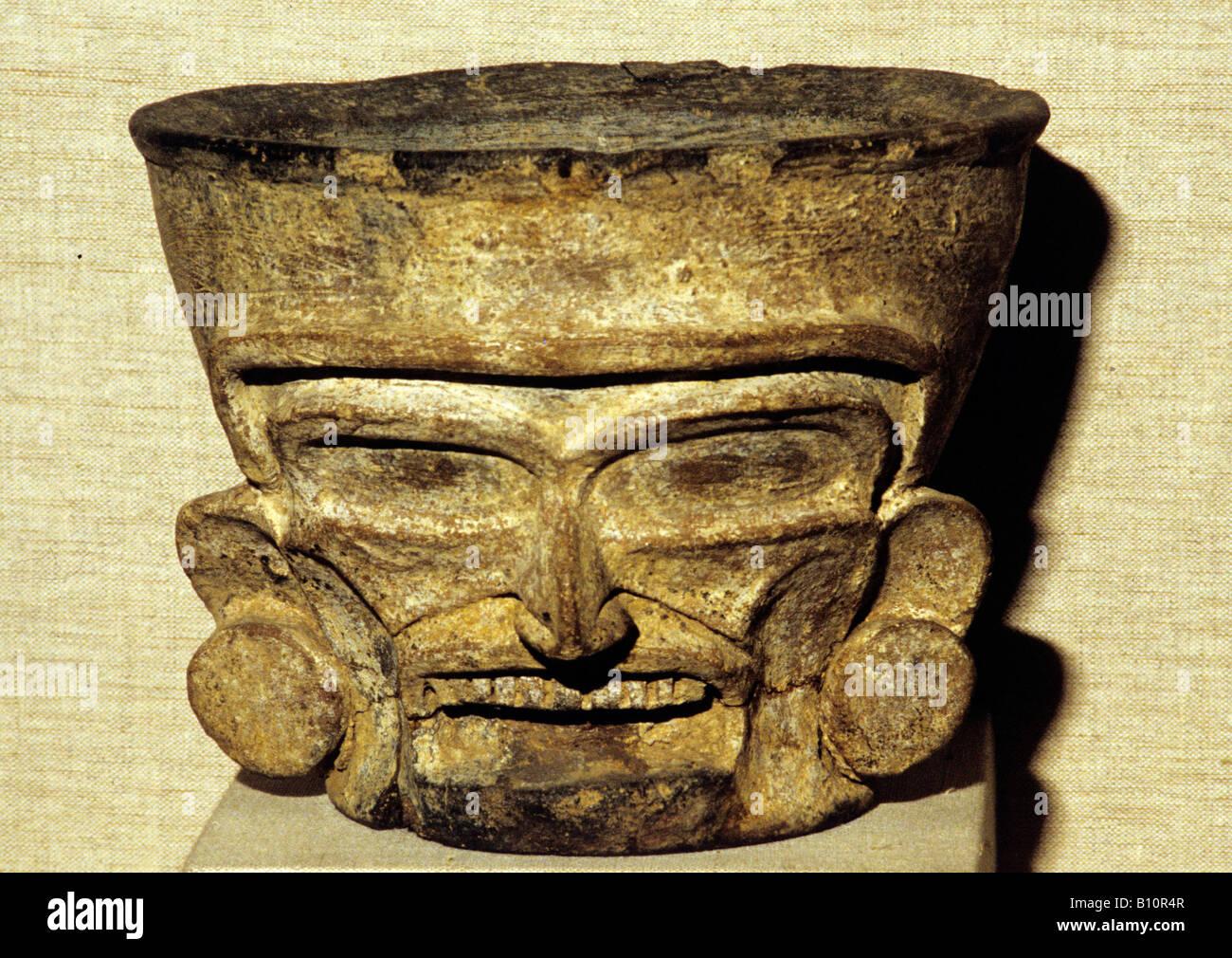 Aztekische Gott faltigem aus Quetzaltepeque Mexiko Copyright: AAA Sammlung Ltd Stockbild