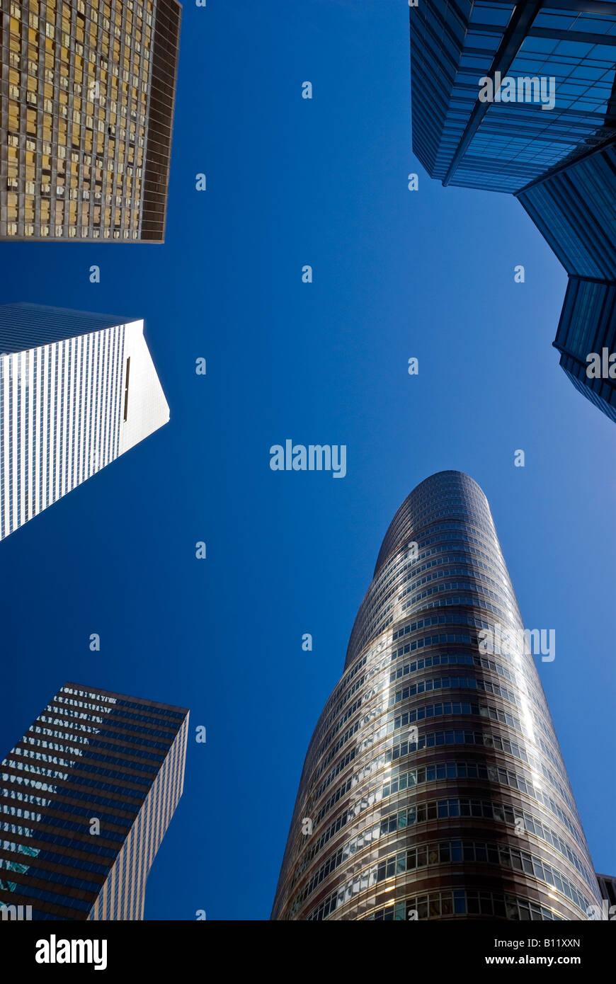 New York City. Wolkenkratzer von Manhattan, einschließlich der Citicorp-Center und das Lipstick Building. Stockbild