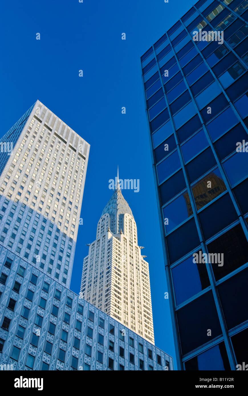 """Das Chrysler Building, New York City. 1930er Jahre Art Deco von """"William Van Alen."""" Stockbild"""