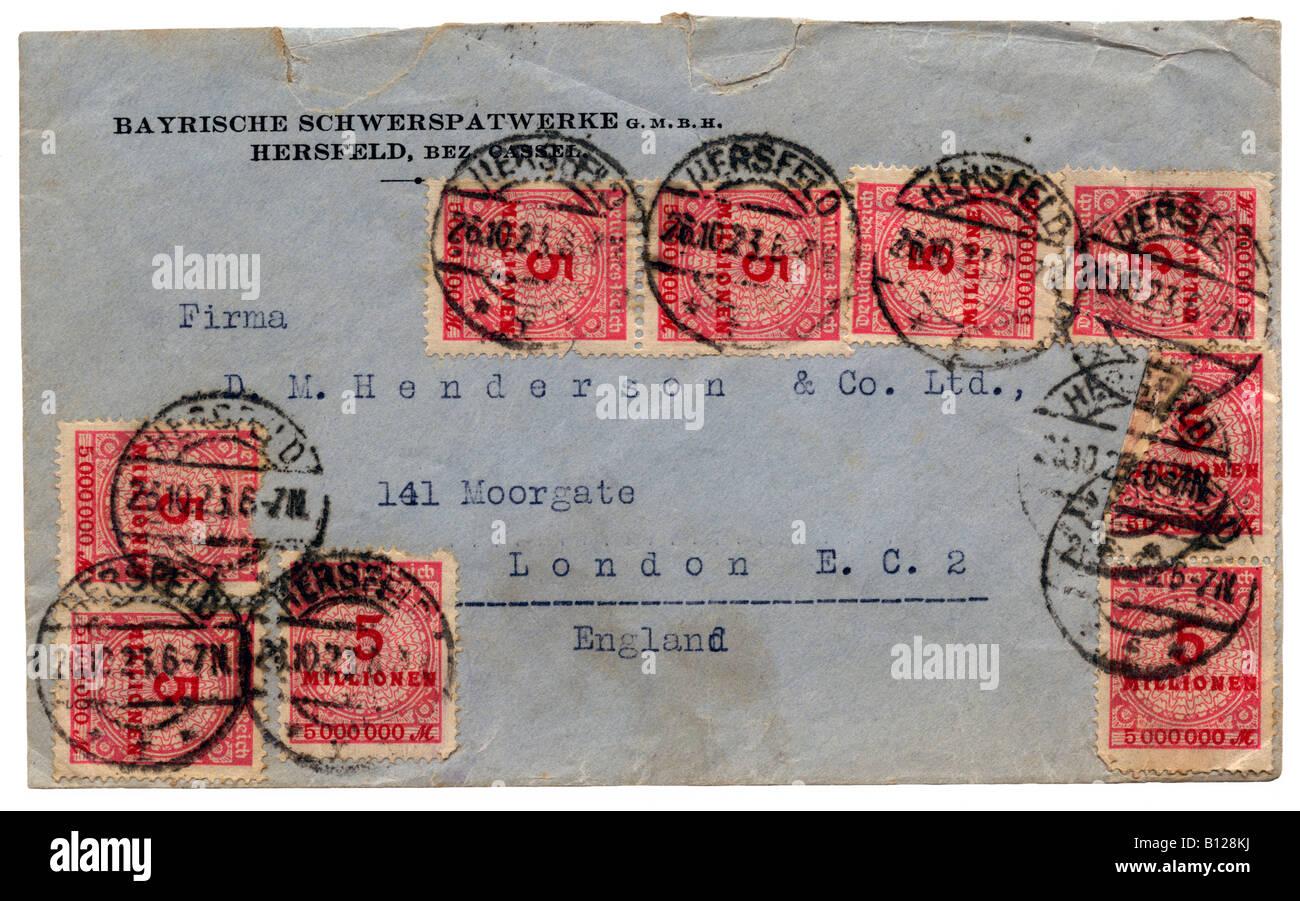 Kommerzielle Brief Aus Deutschland Nach London Uk Mit 45 Millionen