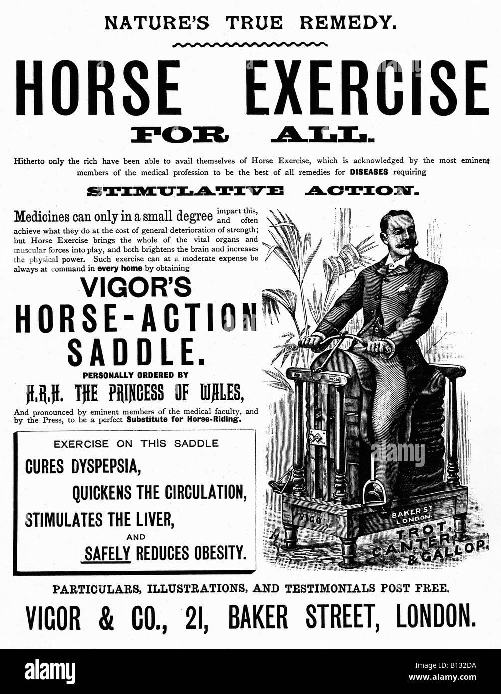 Übung für alle viktorianischen Anzeige Pferd für einen home Übung Maschine Kräfte Pferd Stockbild