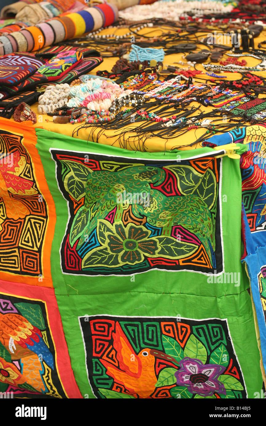 colorful kuna cuna indian mola stockfotos colorful kuna cuna indian mola bilder alamy. Black Bedroom Furniture Sets. Home Design Ideas