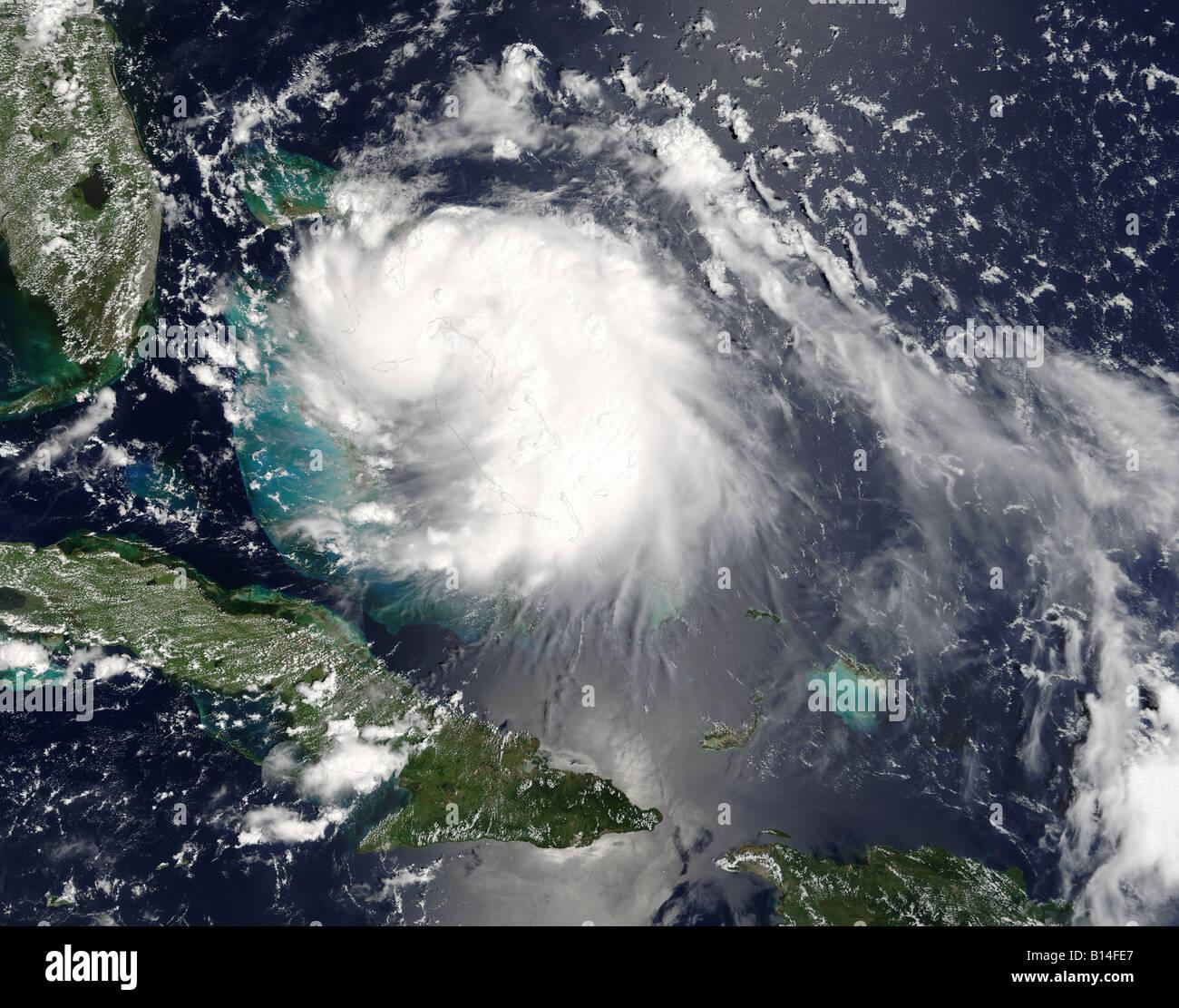 Hurrikan Katrina Satellitenbild Stockbild