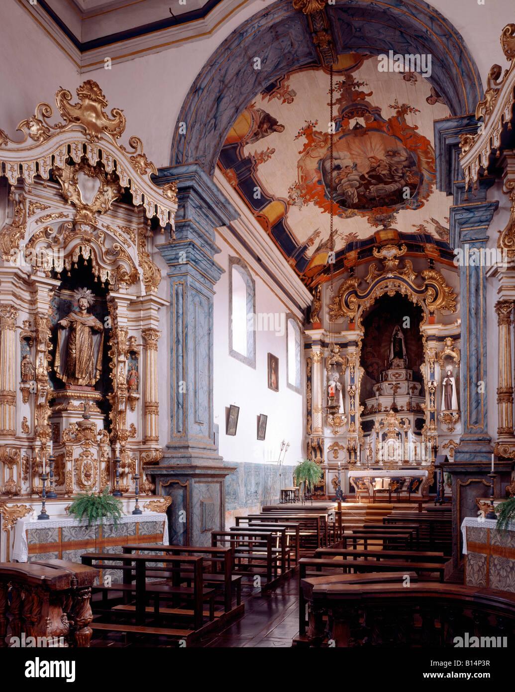 Sabara, Na Sa da Carmo, Interieur, Hauptschiff Stockbild