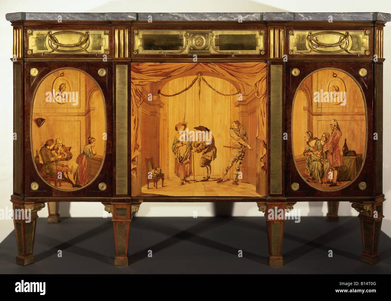 Bildende Kunst Möbel Kommoden Szenen Aus Theater Von David