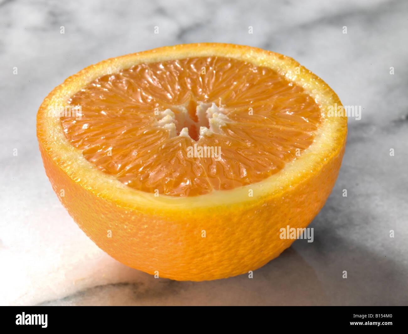 Orange Hälfte, Hälfte ein Orange, saftige Orange, geschnittenen Orange, Orangenschale, Vitamin C, Tröpfchen, Stockbild