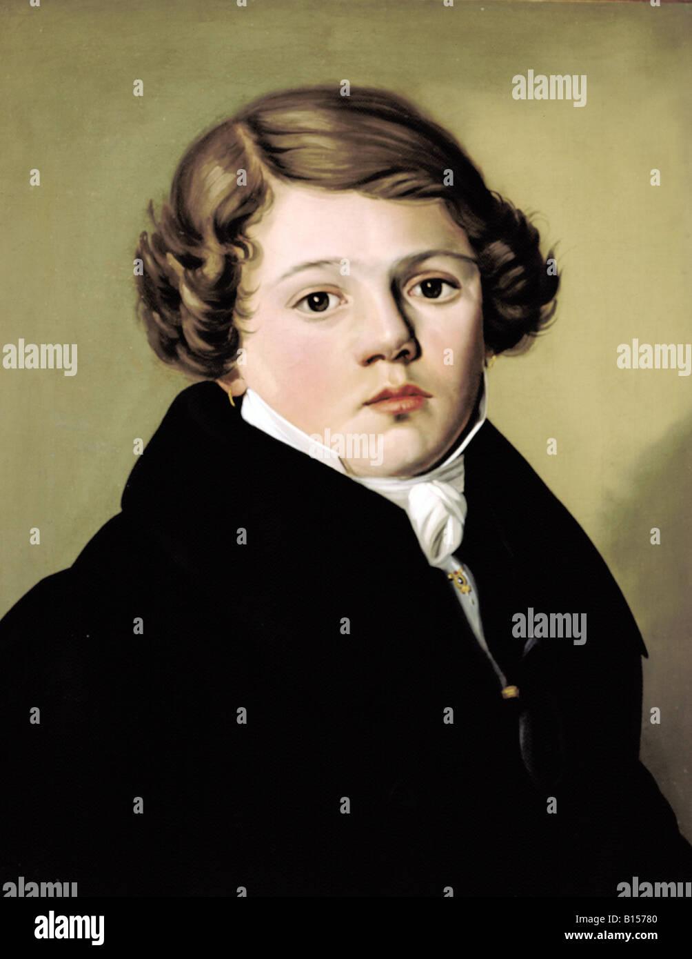 Bildende Kunst, Romantik, Lorenz Zerhoch, Sohn eines Münchner Bäcker, Malerei, unbekannter Künstler, Stockbild