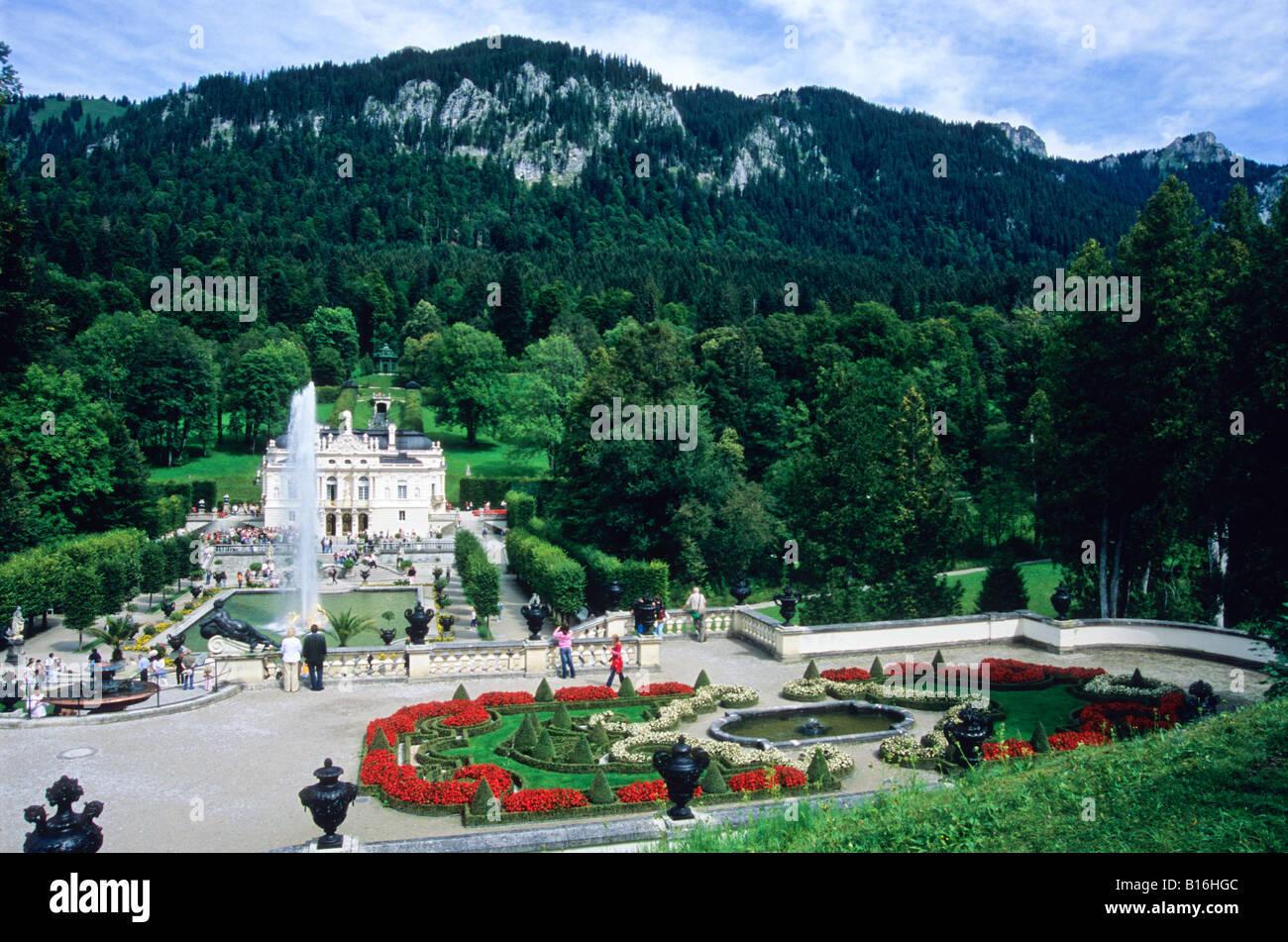 Schloss Linderhof Ortsteil Garmisch Partenkirchen Bayern Deutschland Stockfotografie Alamy