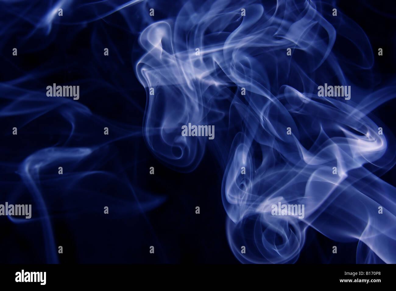 Hintergrund der wirbelnden Rauch Stockbild