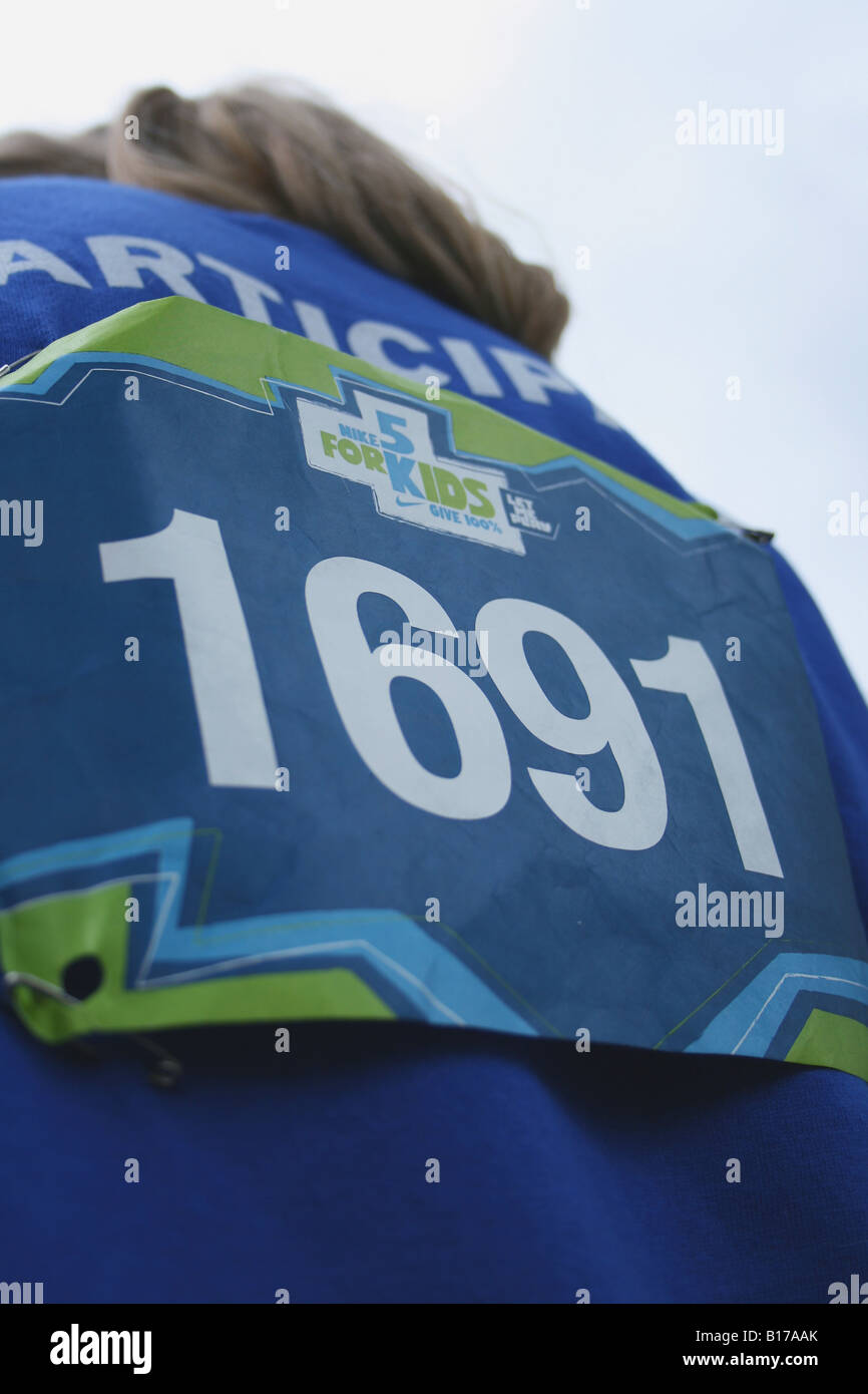 1691 Teilnehmer bei der 2. jährlichen Nike 5K für Kinder Stockfoto