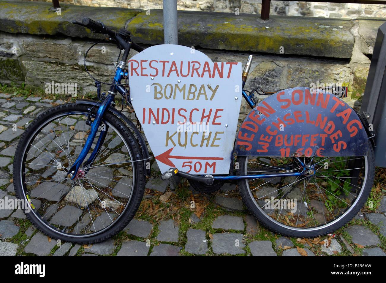 Bike Fahrrad Restaurant Bombay-Indische erfrischende Deutschland ...