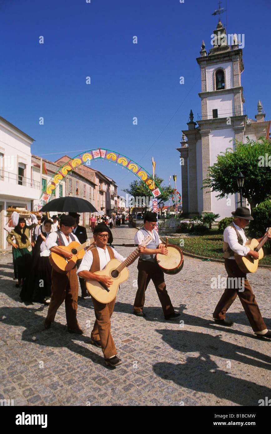 Folklore-Festival in Barqueiros in Portugal Minho Stockbild