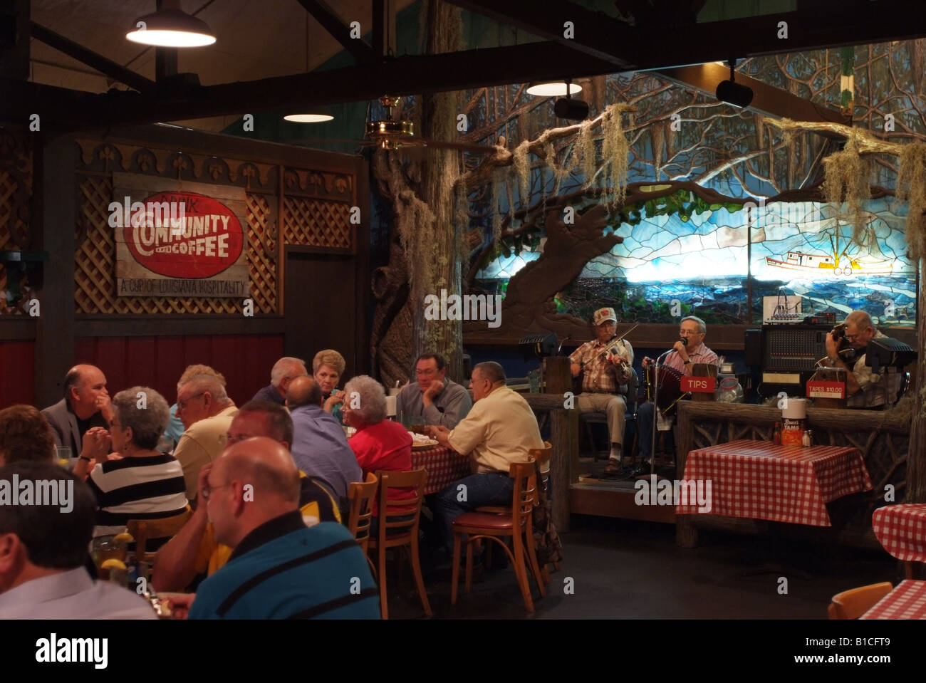 USA Louisiana LA Cajun Country Lafayette Prejeans Restaurant mit ...