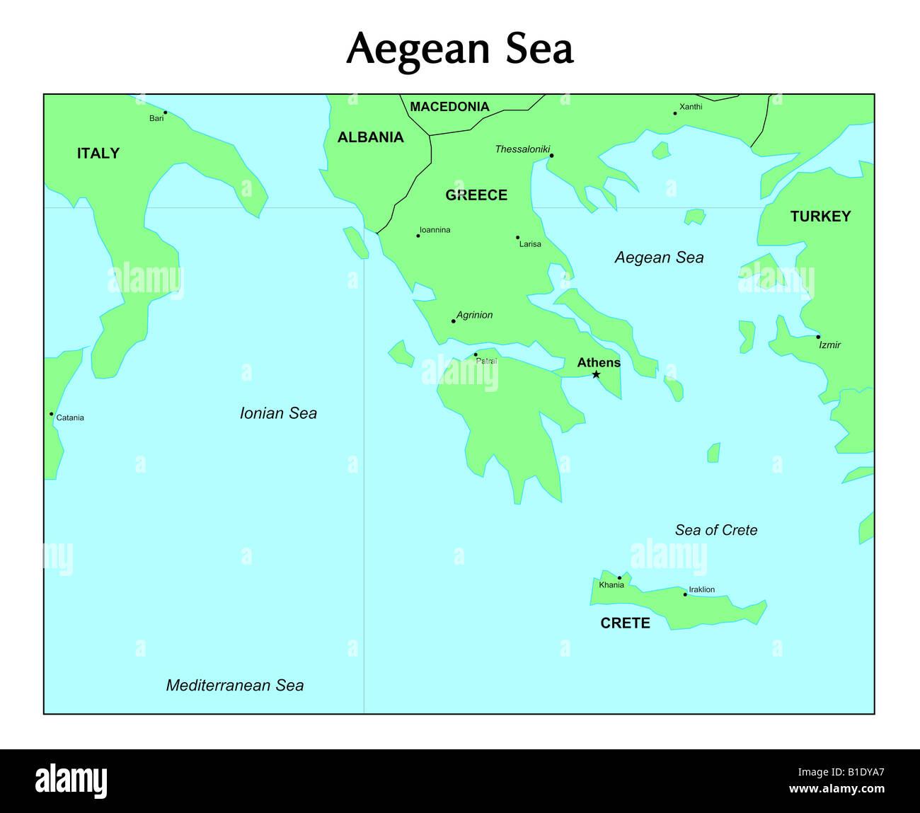 Agais Karte Stockfoto Bild 18131855 Alamy