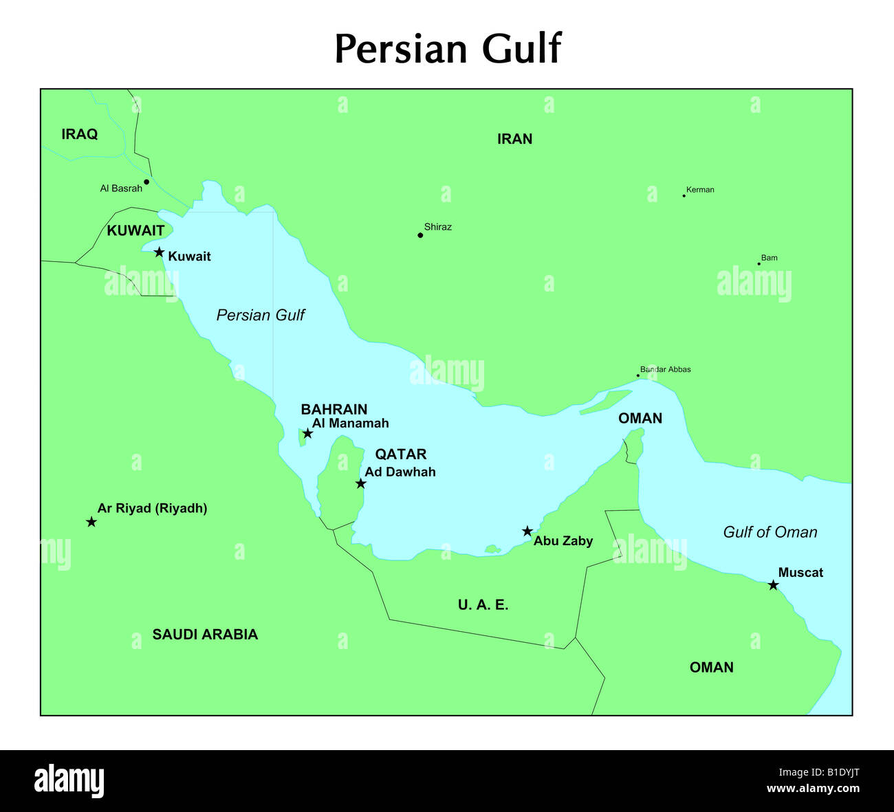 Persischen Golf Karte Stockfoto Bild 18132096 Alamy