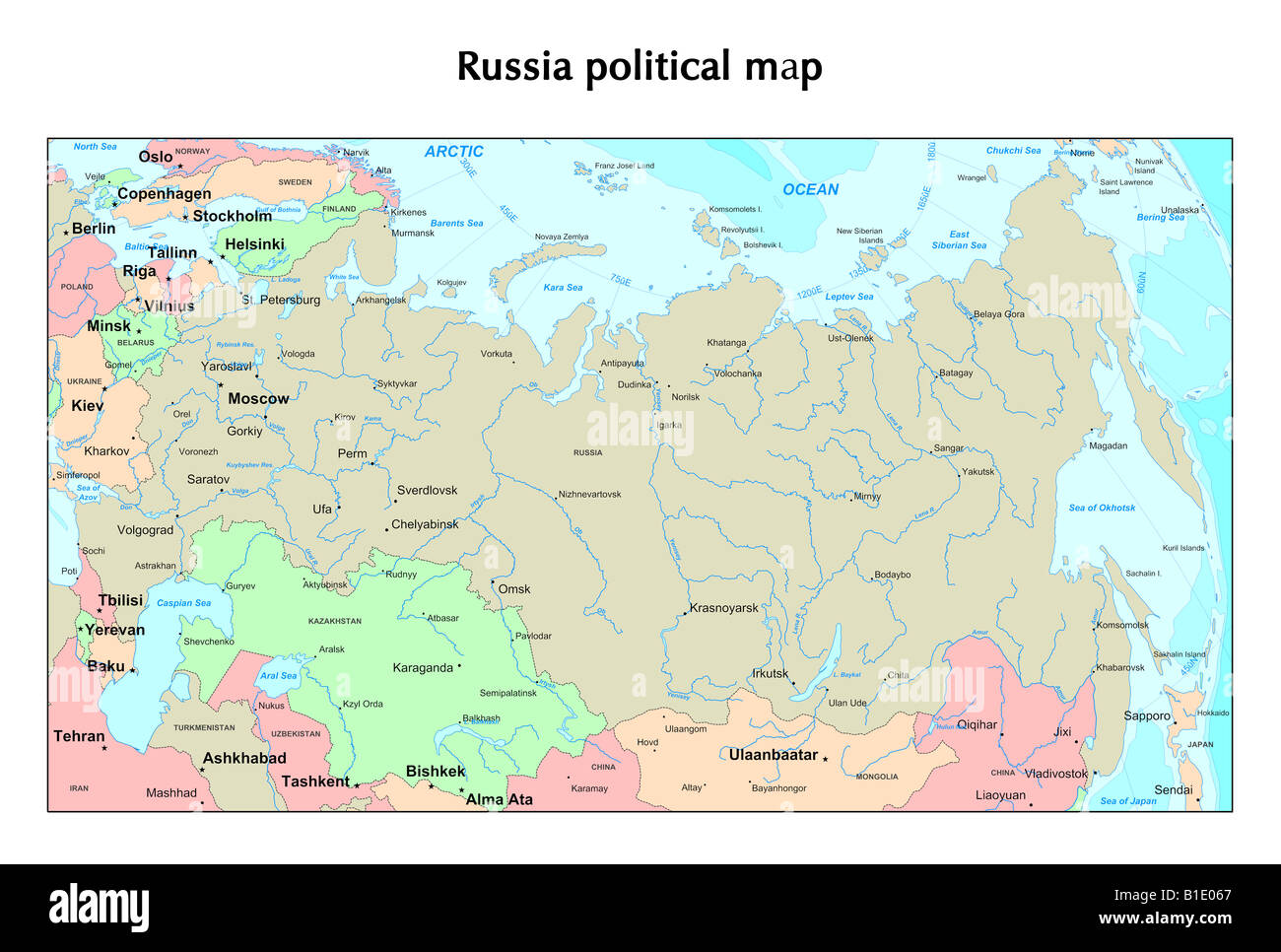 Karte Russland.Karte Russland Stockfotos Karte Russland Bilder Alamy