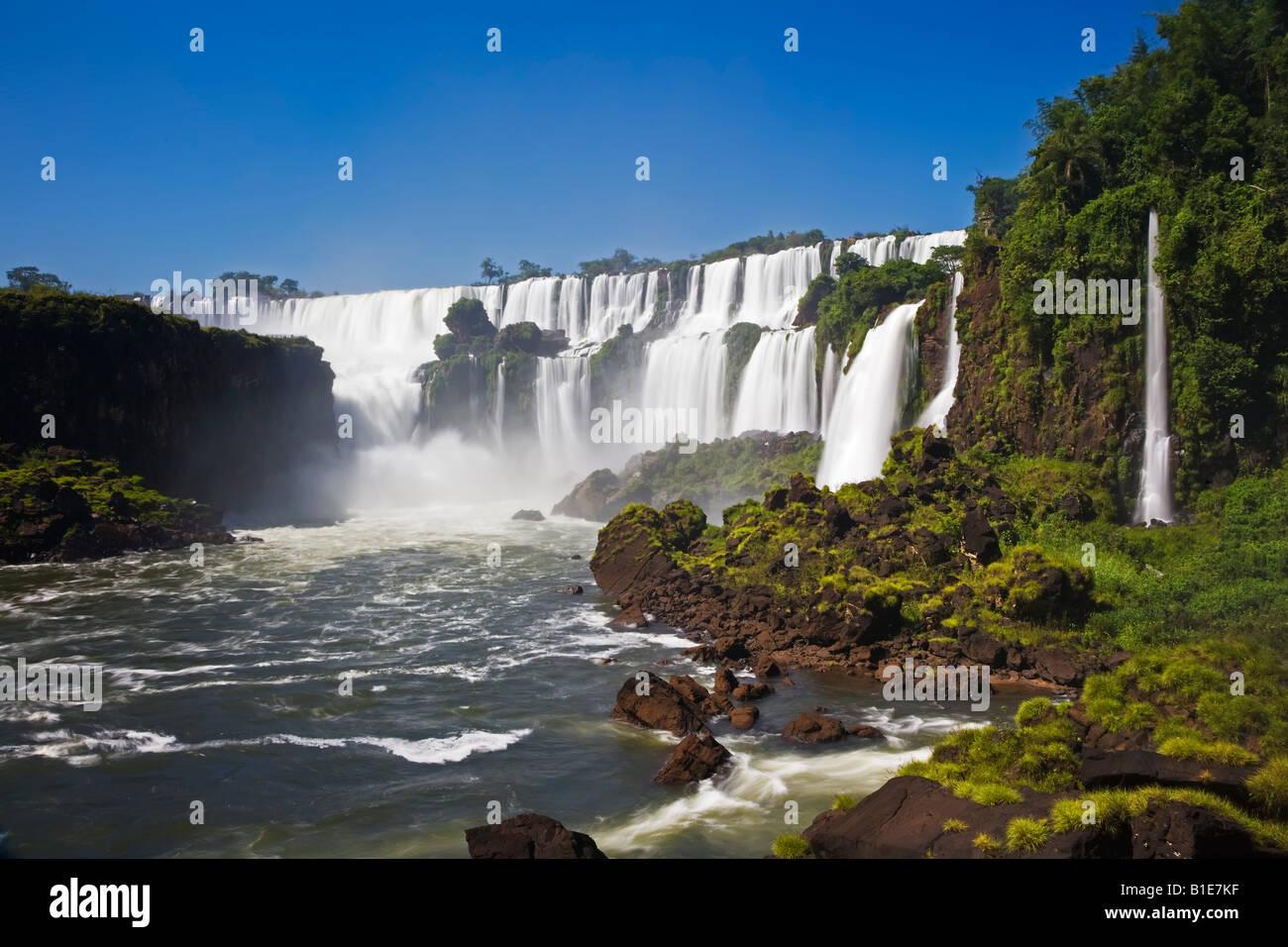 Iguaçu-Wasserfälle Stockfoto