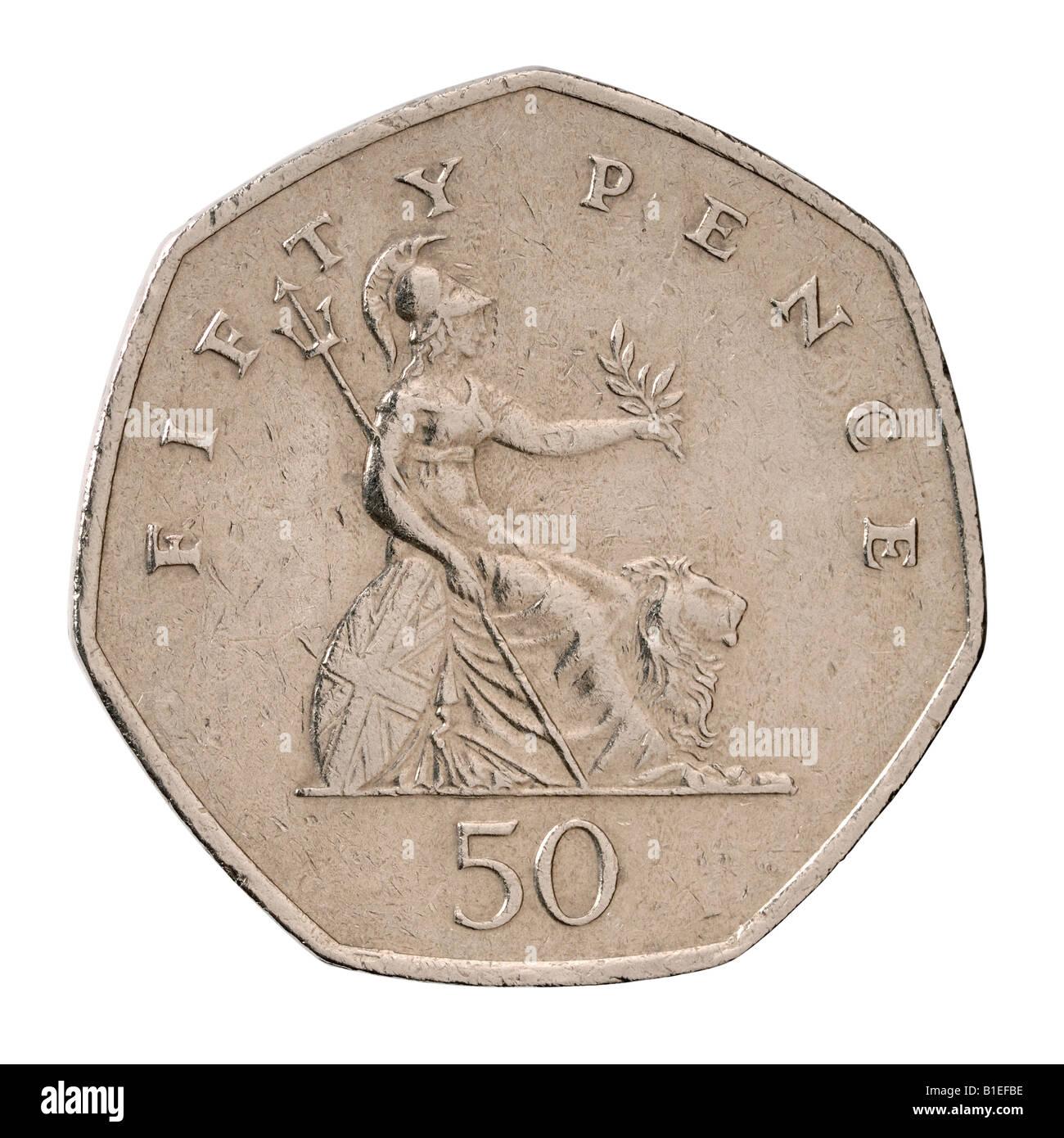 50 Pence Sterling Münze Stockfoto Bild 18144434 Alamy