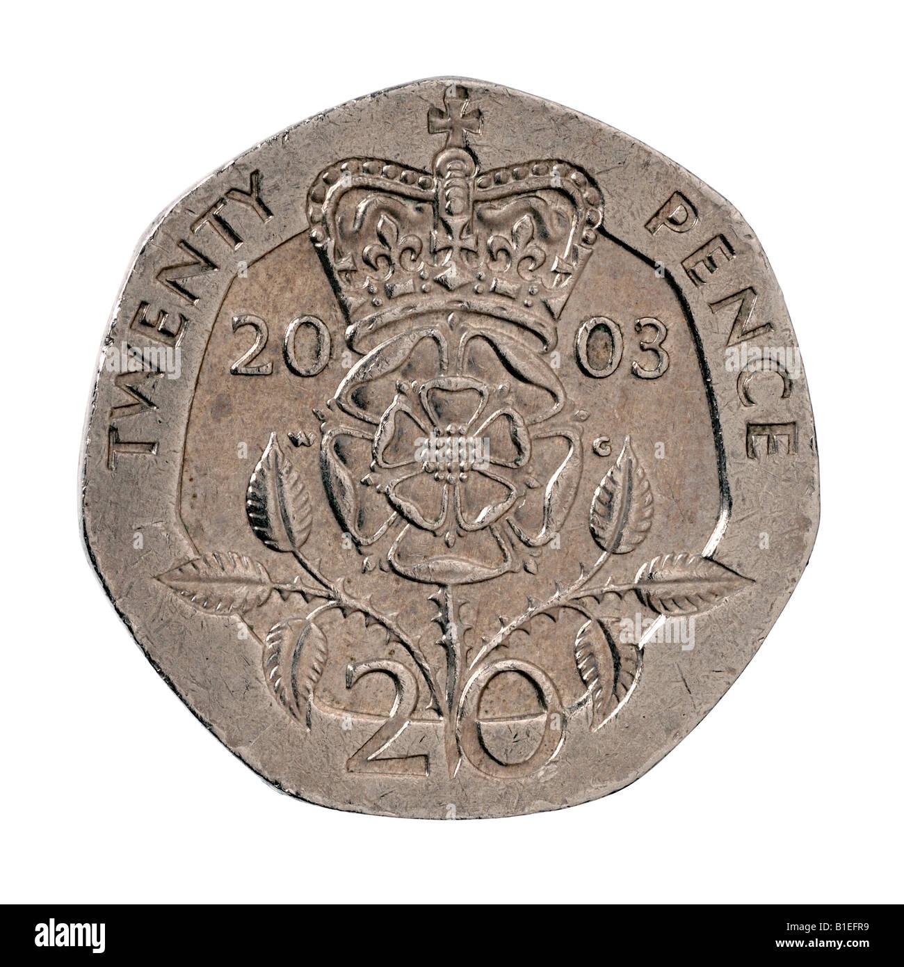 20 Pence Sterling Münze Stockfoto Bild 18144765 Alamy